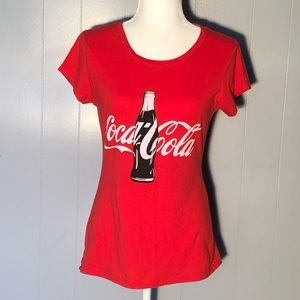 CocaCola red tee juniors Large 11-13